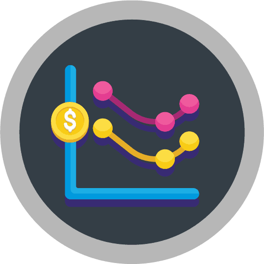 payment solution graph icon
